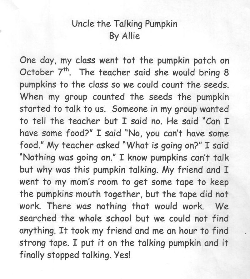 Uncle the Talking Pumpkin