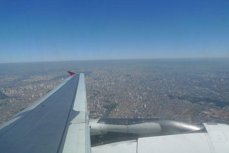 Sao paulo from plane