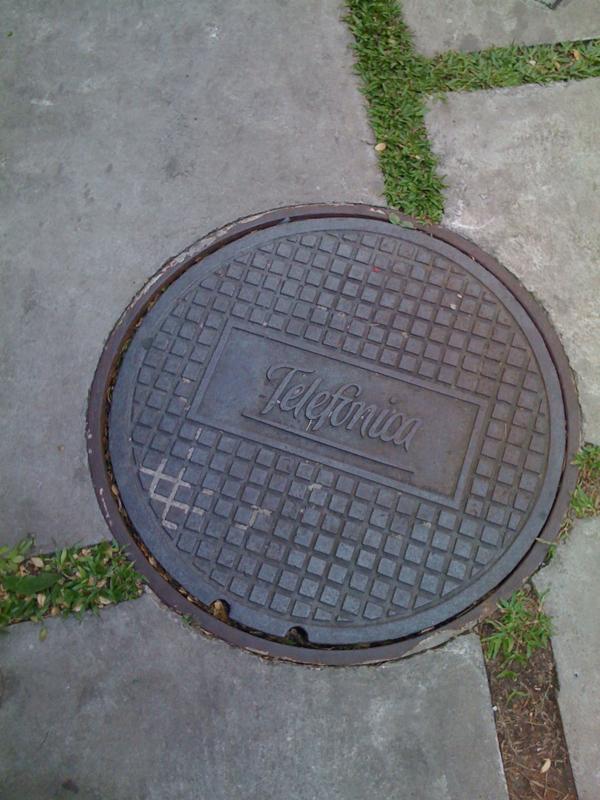 Sao paulo manhole cover