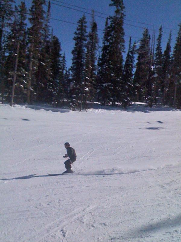 Downhill adam skiing