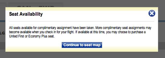 No complimentary seats
