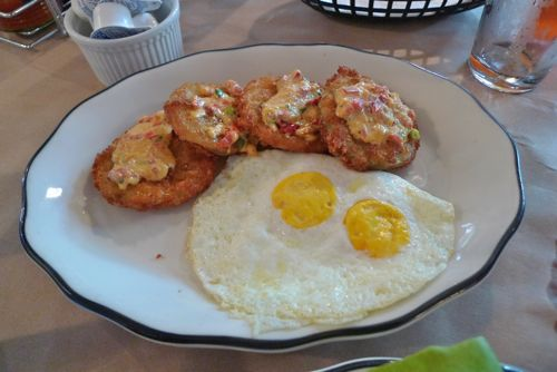 Glass onion fried green tomatoes