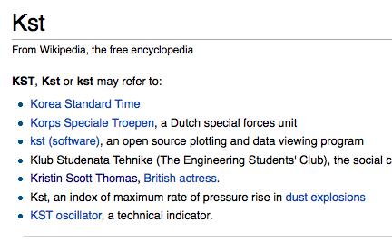 KST on wikipedia