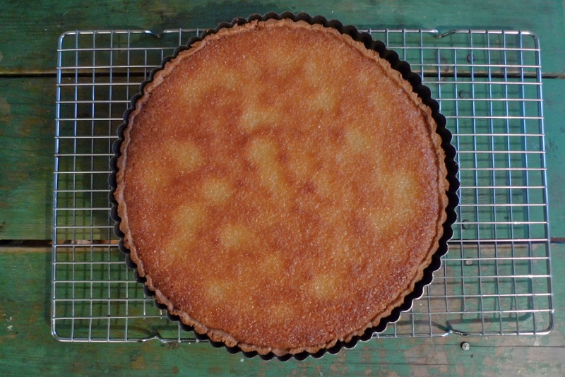 Lemon coconut buttermilk tart