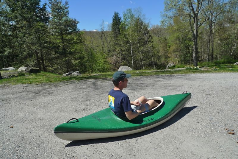 Adam in kayak