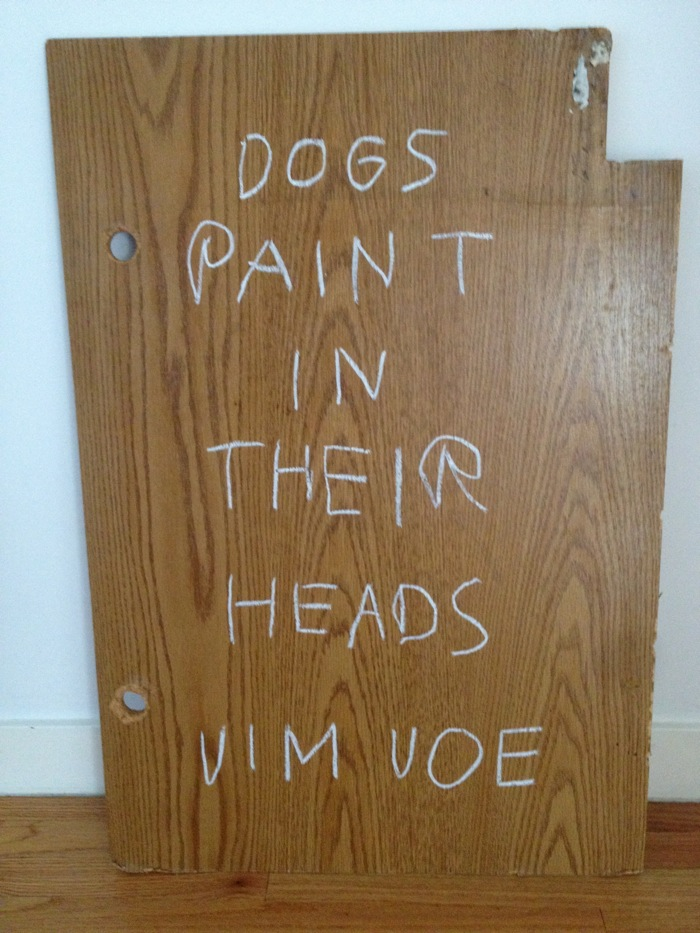 Dogs paint in their heads Jim Joe