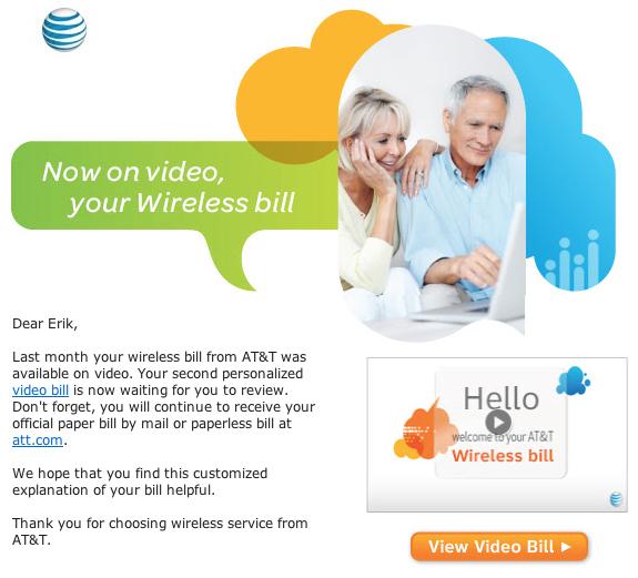 ATT video bill