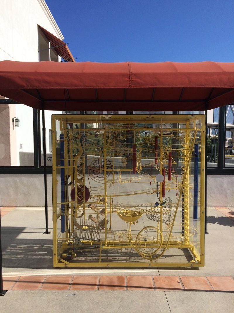 George Rhoads artwork at Santa Barbara Airport
