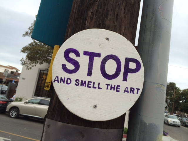 Stop and Smell the Art  in Santa Barbara Funk Zone