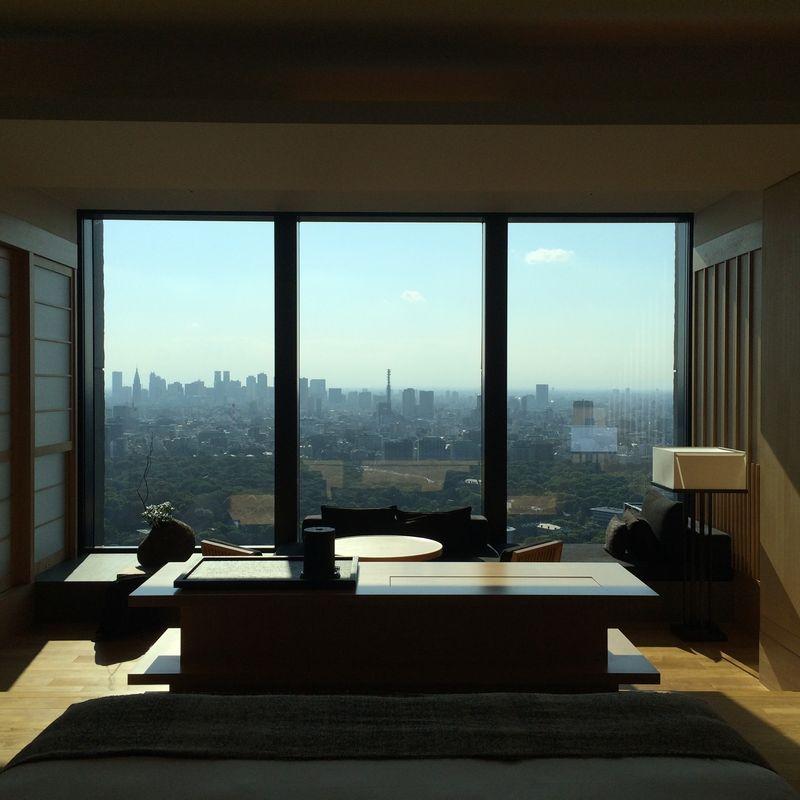 Aman Tokyo room view