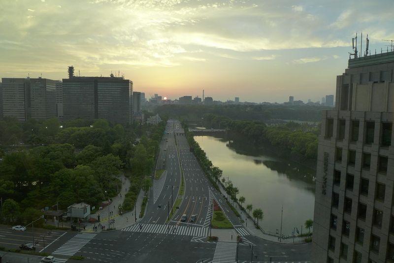 View from room at Peninsula Tokyo