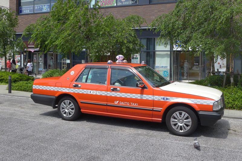 Orange Tokyo taxi