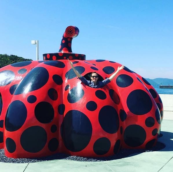Kusama red pumpkin at Naoshima