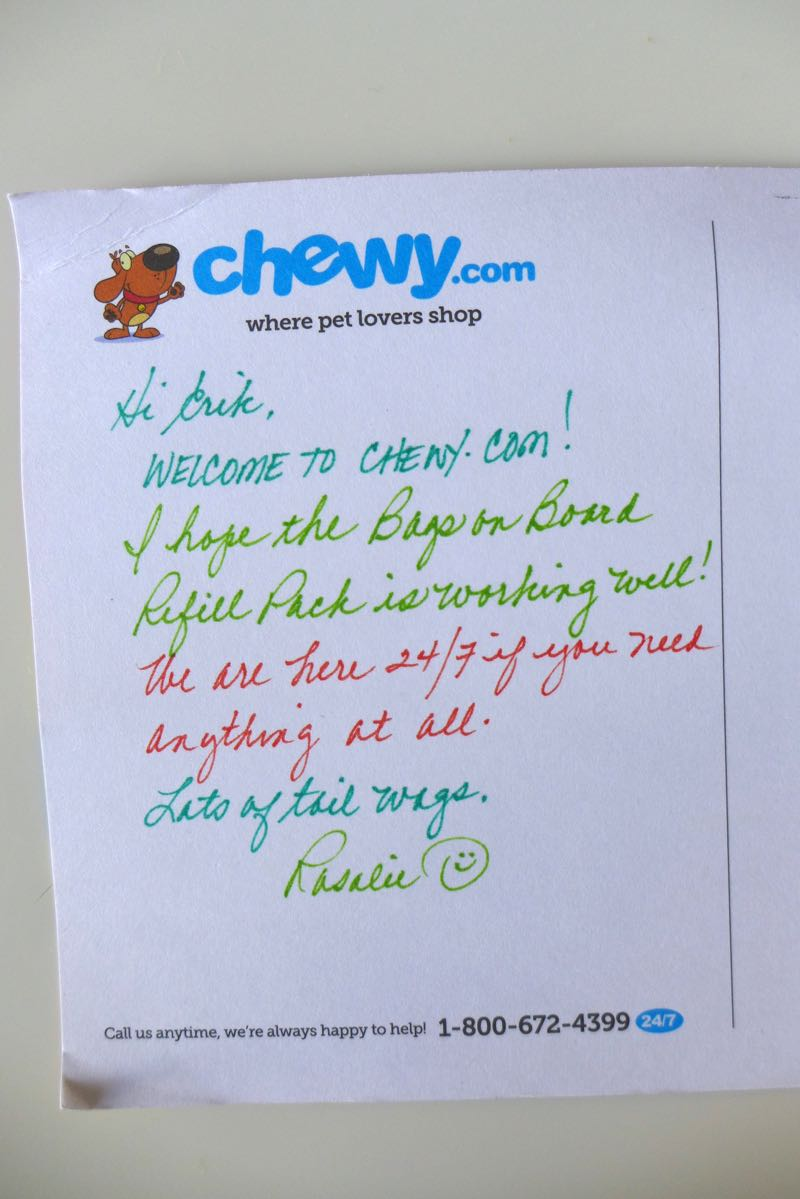 Chewy letter