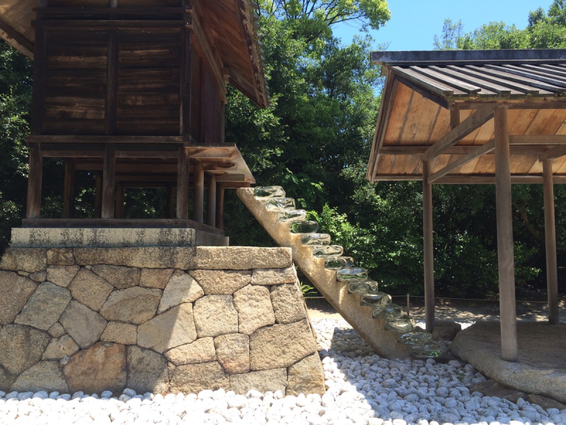 Art Site Naoshima glass stairway