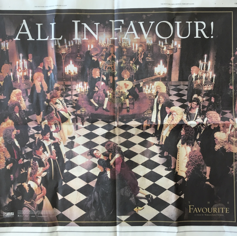 The Favourite NYT ad