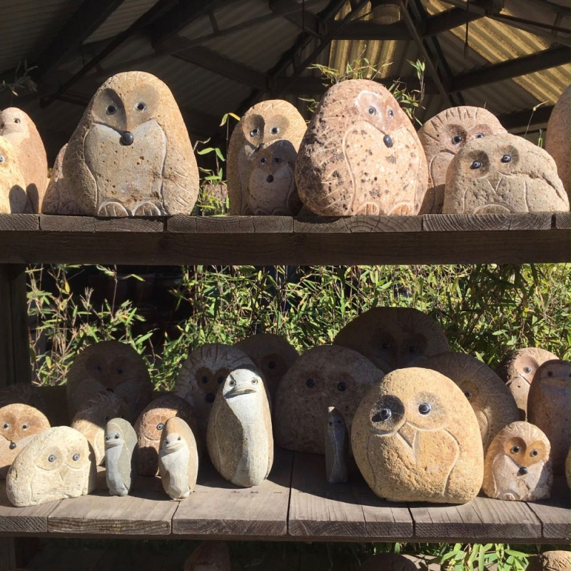 Seaside Gardens nursery owl figurines