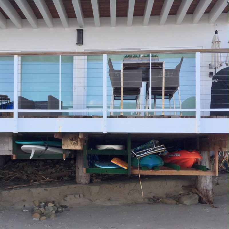 Miramar beach house surfboard storage