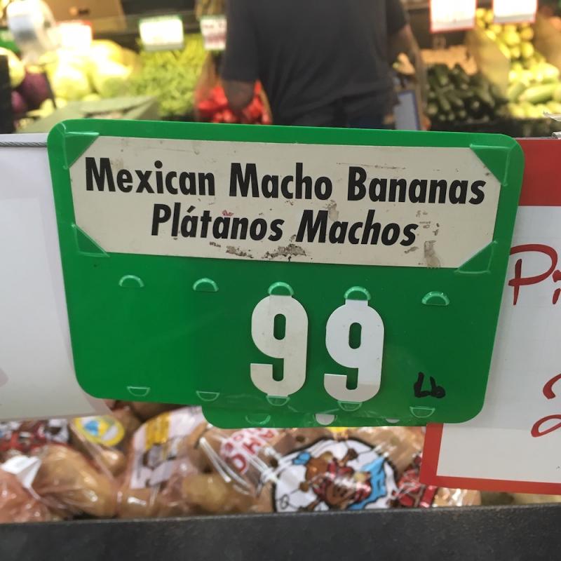Mesxican macho banana