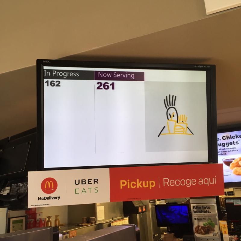 McDonalds monitor