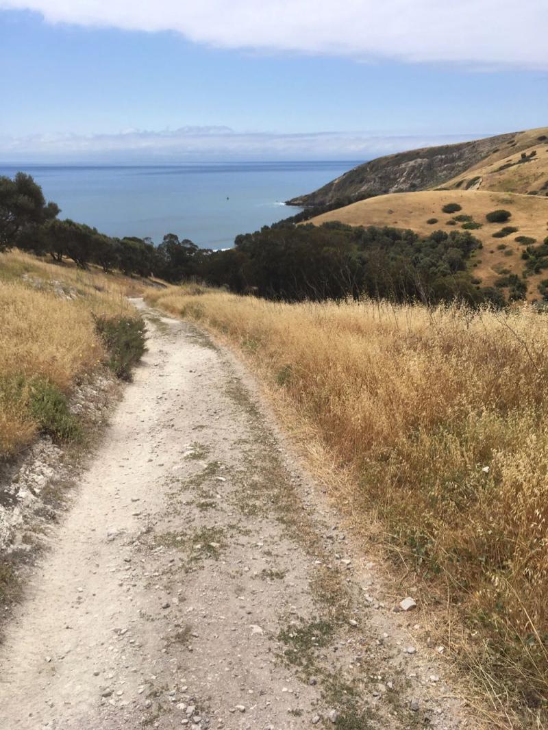 Santa Cruz Island walking toward Smugglers Cove6