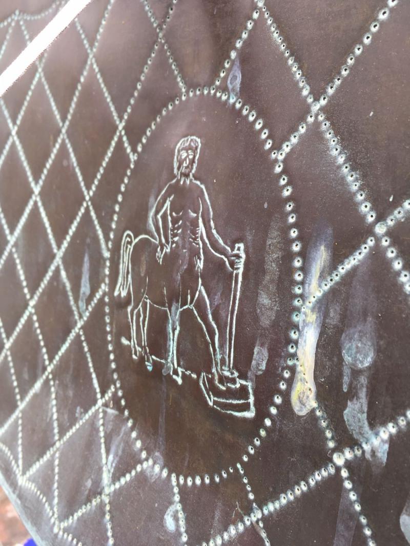 Casa del Herrero centaur on outdoor chair