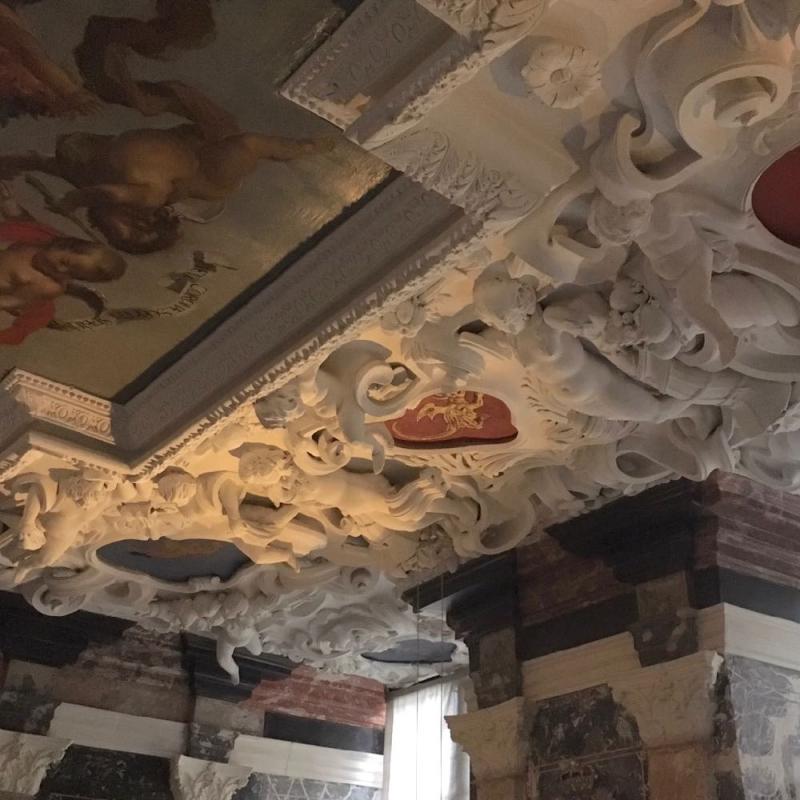 Copenhagen Rosenborg Slot ceiling