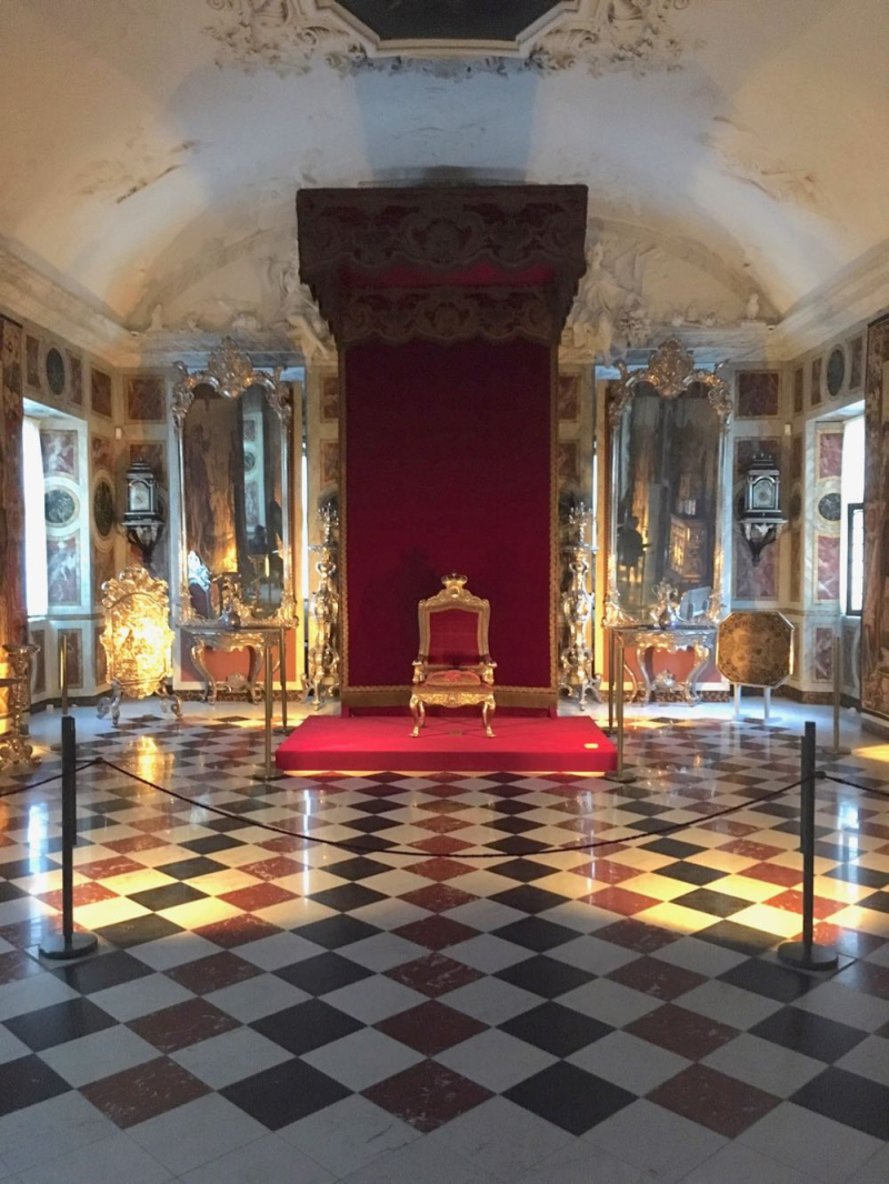 Copenhagen Rosenborg Slot throne