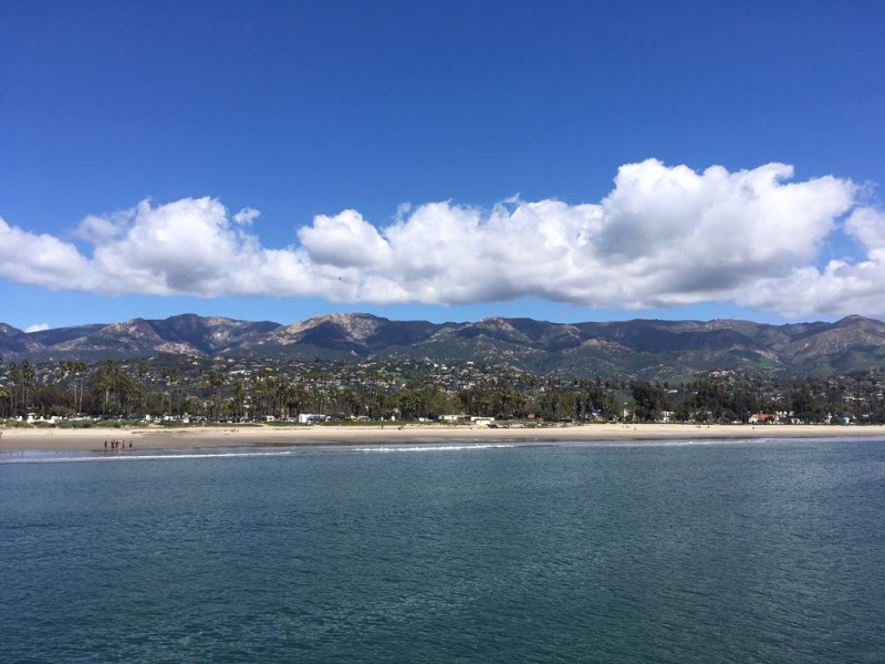 View of Santa Barbara from Stearns Wharf
