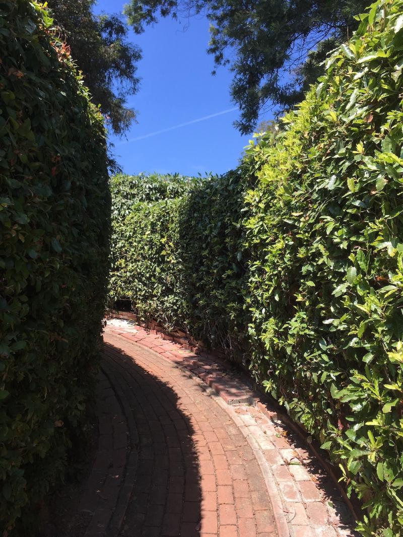 Montecito house brick path