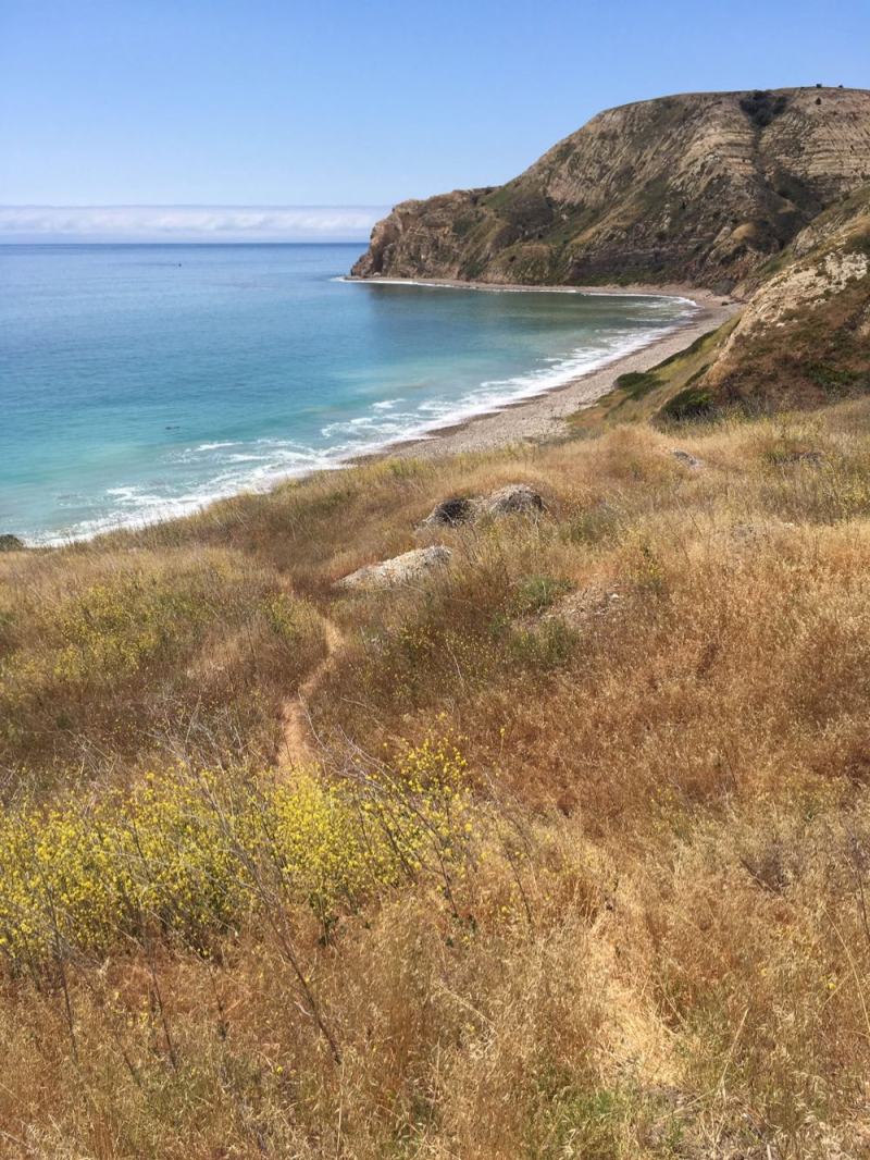 Santa Cruz Island walking toward Yellowbanks5