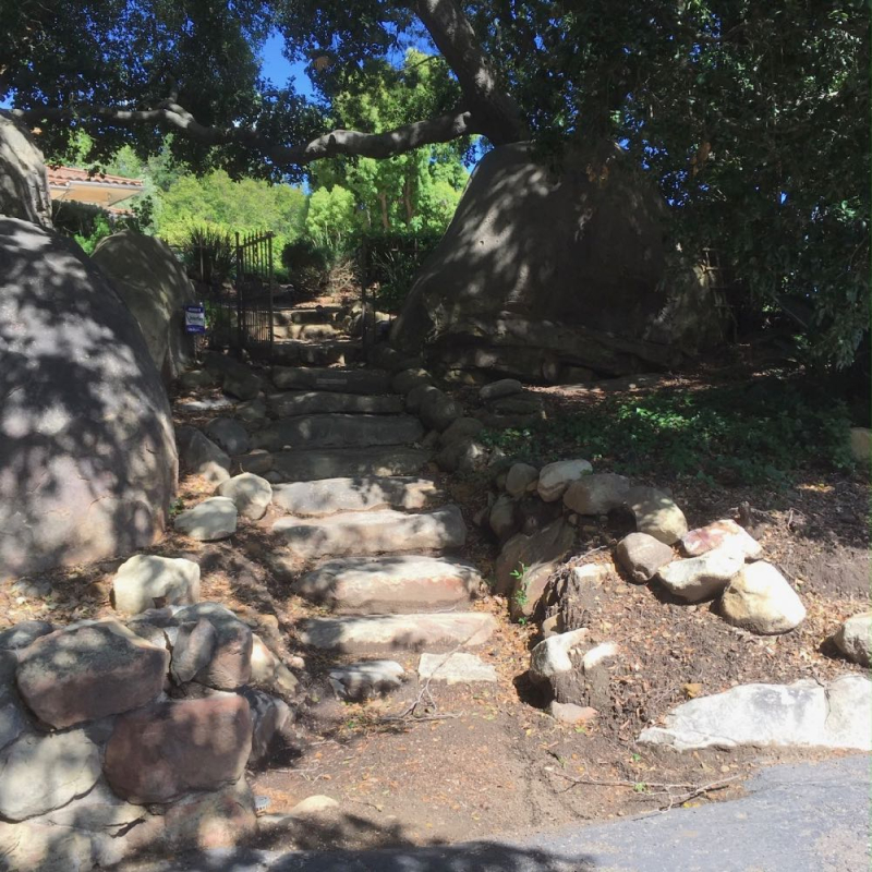 Stone stairs in Riven Rock Montecito
