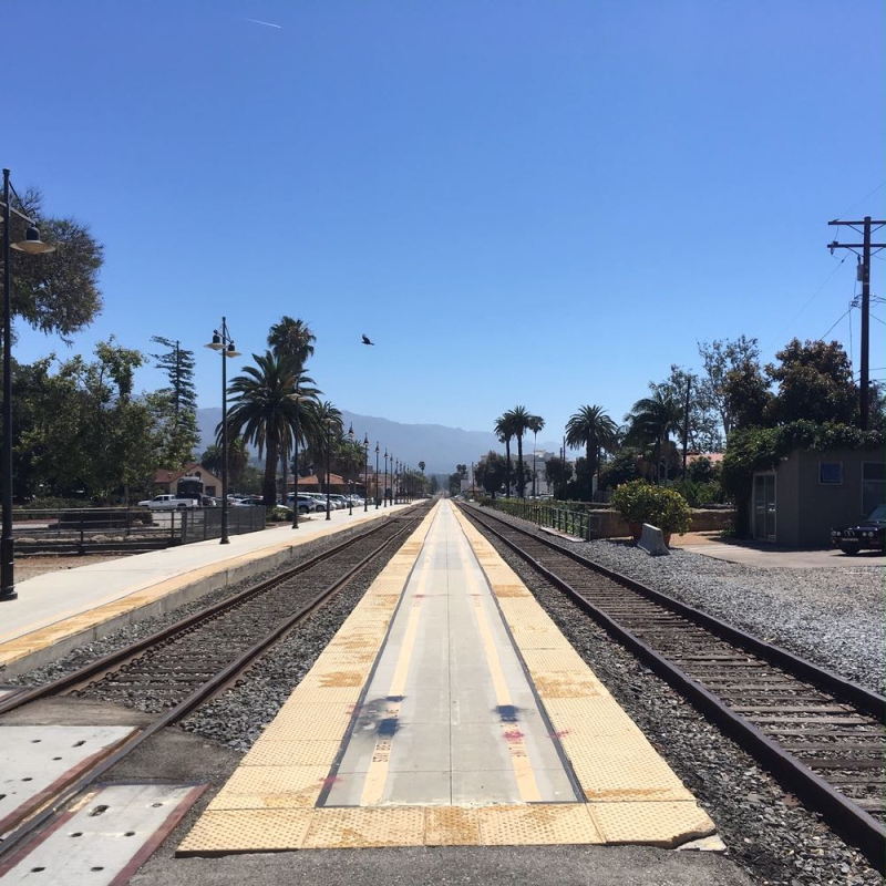 Train tracks in Santa Barbara