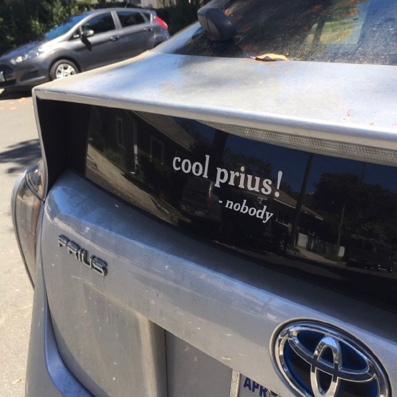 Cool Prius decal