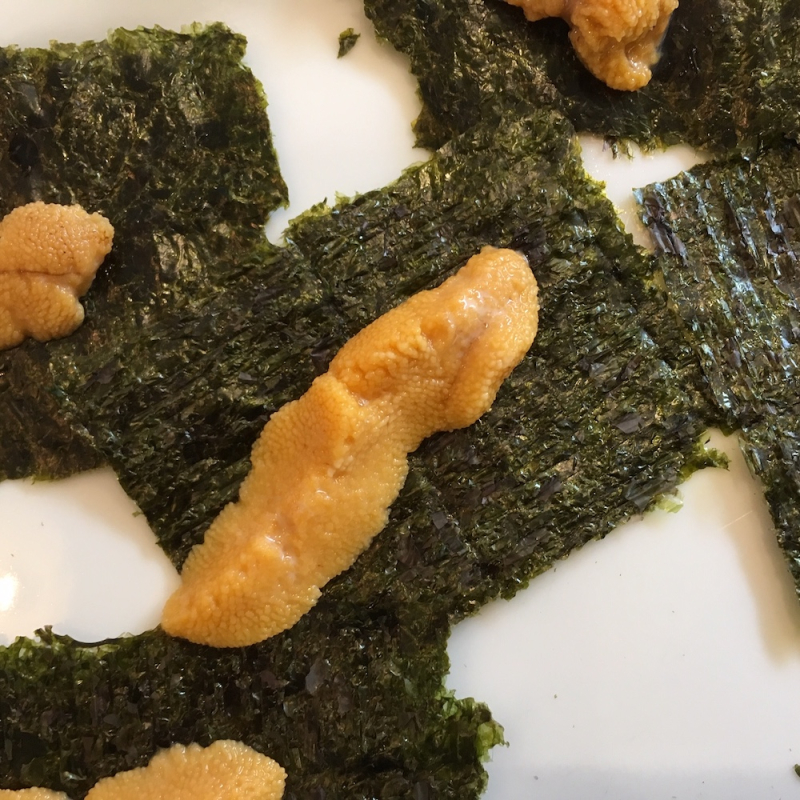 Santa Barbara fishermens market uni on nori