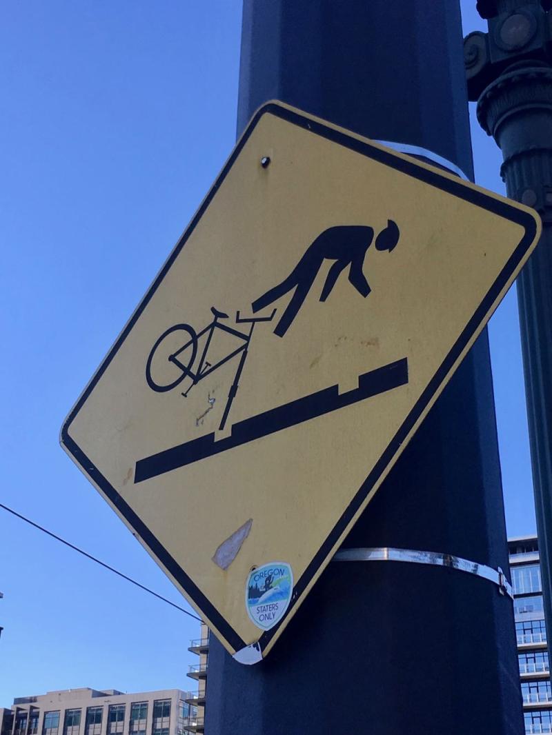 Portland bike sign