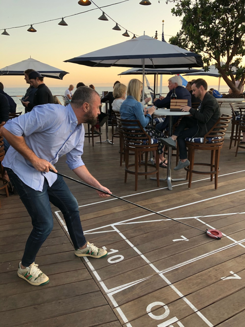Shuffleboard at Rosewood Miramar bar
