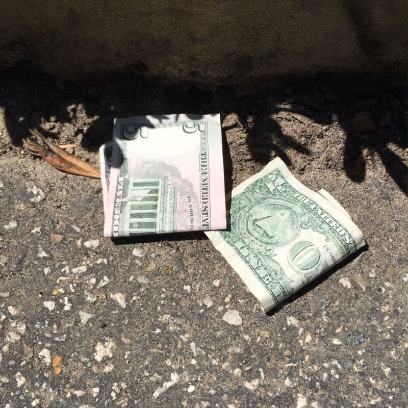 Cash on the street