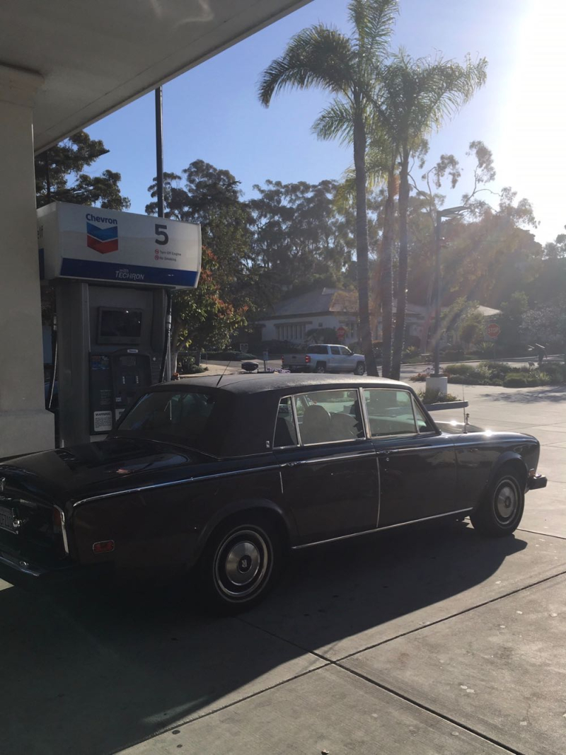 Rolls Royce at Montecito gas station