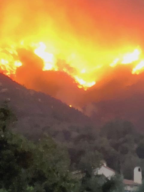 Thomas Fire in Montecito