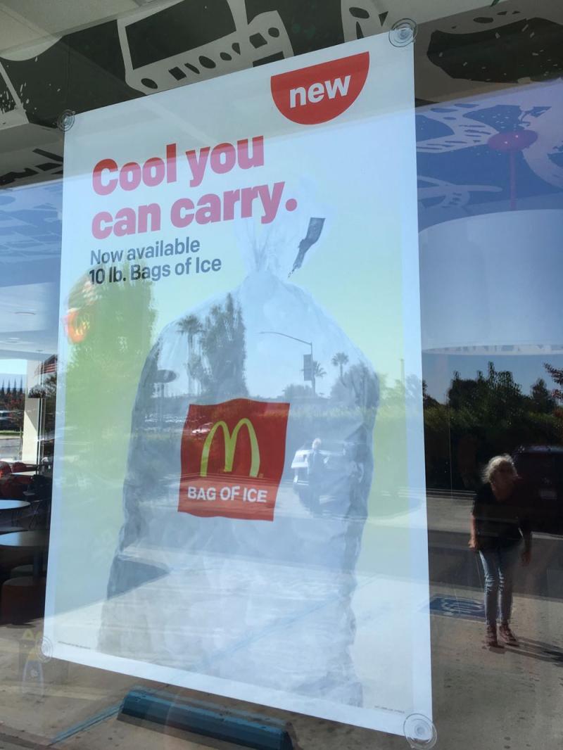 McDonalds ice
