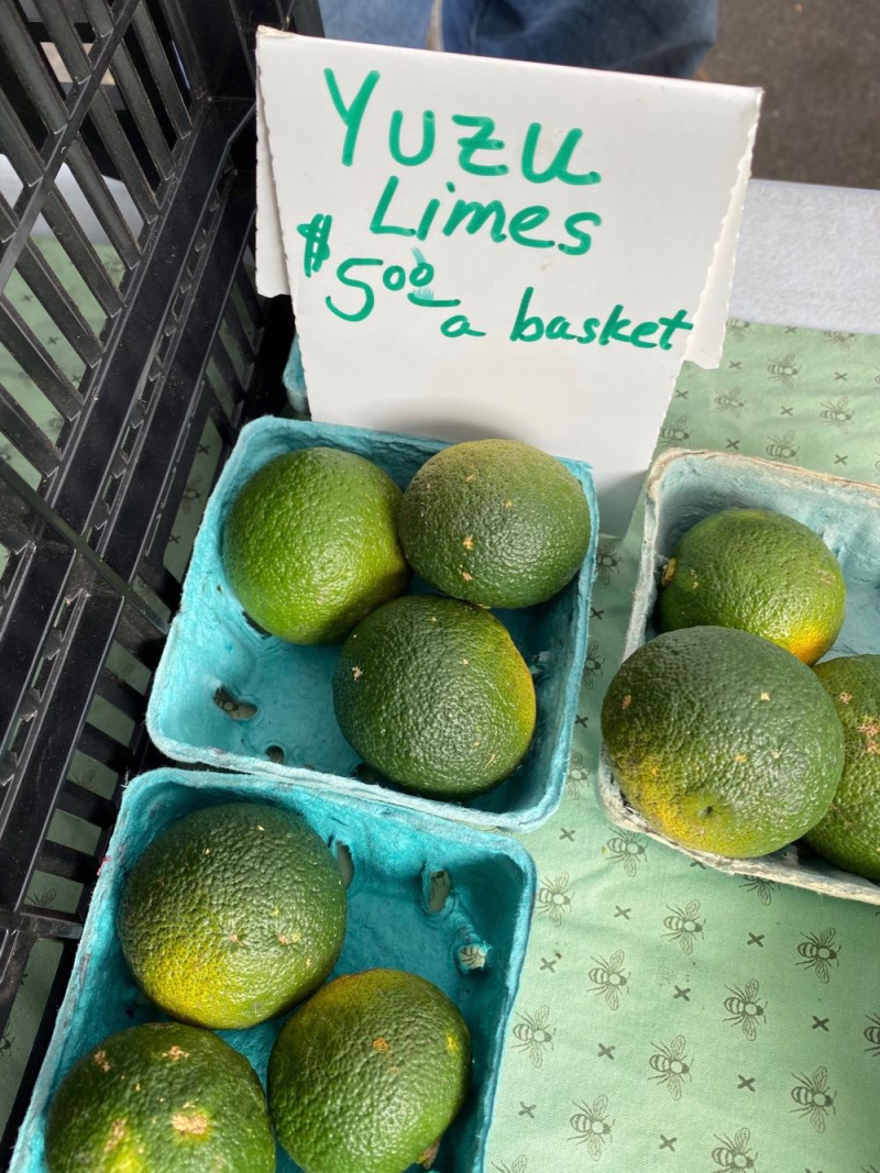 Yuzu limes at Santa Barbara Farmers Market