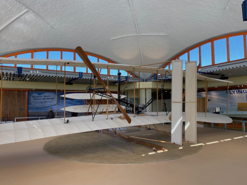 Plane replica at Wright Brothers National Monument