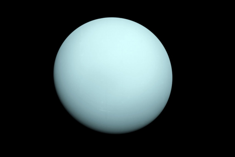 Uranus by Voyager 2 courtesy NASA